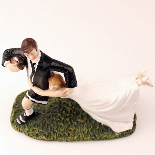 Sports Theme Funny Rugby Wedding Cake Topper Ewft005 As Low As