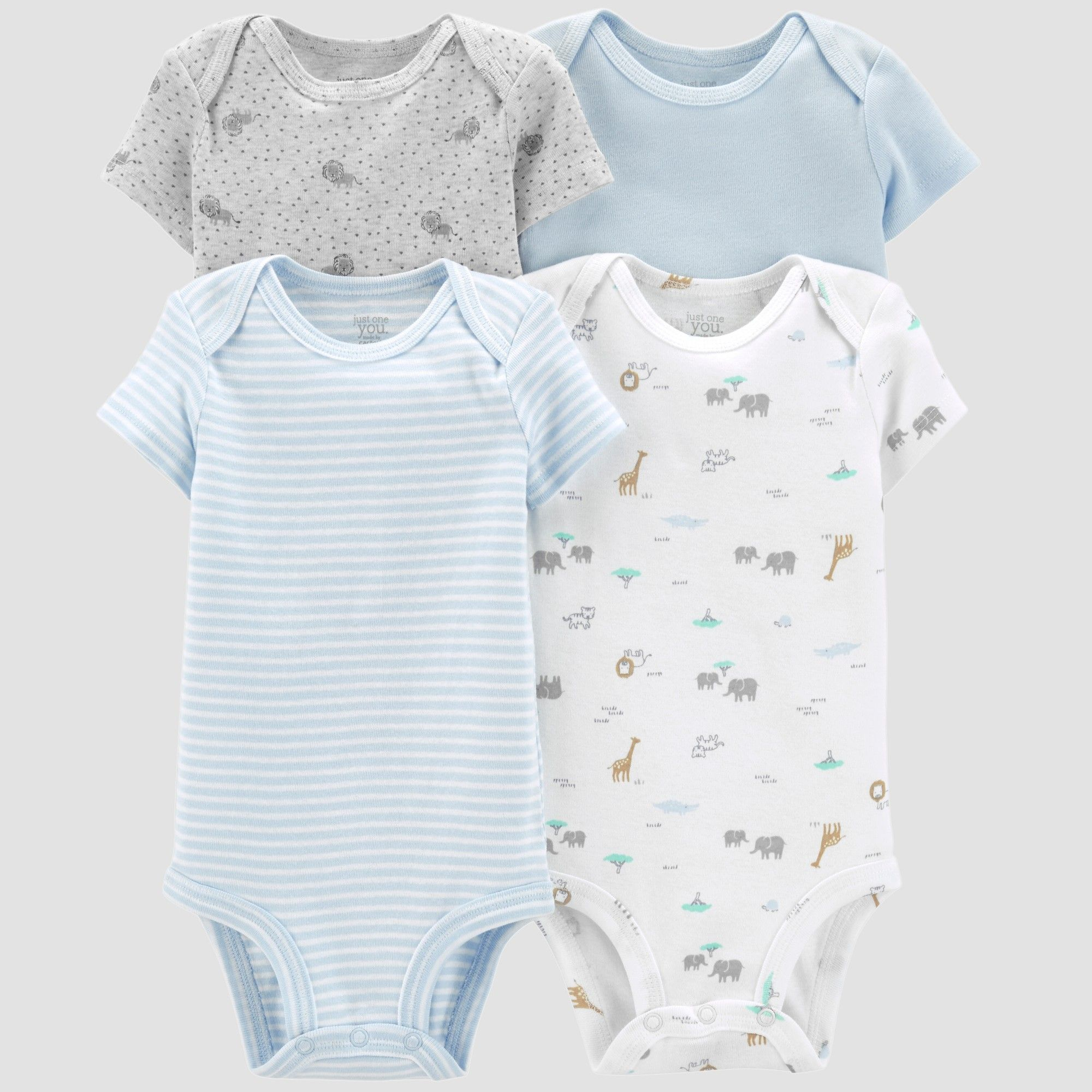 bc36e21fe Little Plant Organic by carter's Baby Boys' 4pk Bodysuits - Blue/Gray/White  Newborn. Baby Boys' 4pk Bodysuits - Just One You made ...