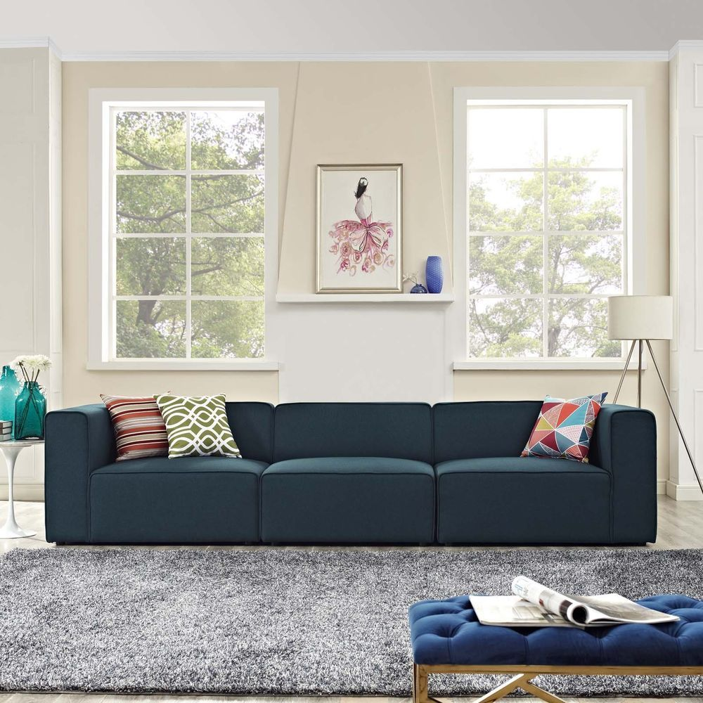 contemporary modern upholstered fabric 3pc sectional sofa set in rh pinterest com