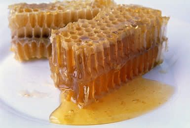 honey comb. Yum. When I was a kid I loved eating honeycomb and then chewing the wax:)