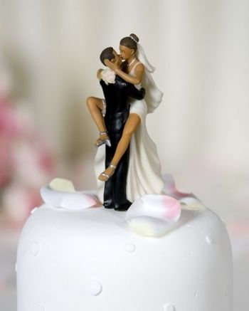 Funny Sexy  African American Wedding Bride and Groom Cake Topper      Funny Sexy  African American Wedding Bride and Groom Cake Topper Figurine