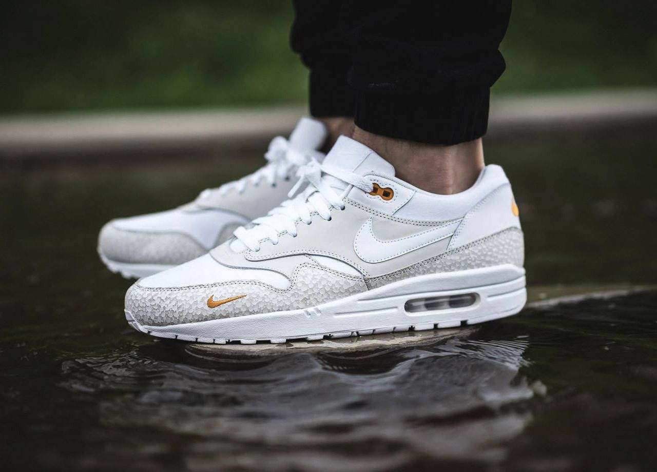 91353483e6 Nike Air Max 1 PRM - White/Kumquat - 2016 (by hendroklamar) A quality pair  of shoe trees by Sole Trees are a perfect fit for your sneakers #ShoeTree  ...
