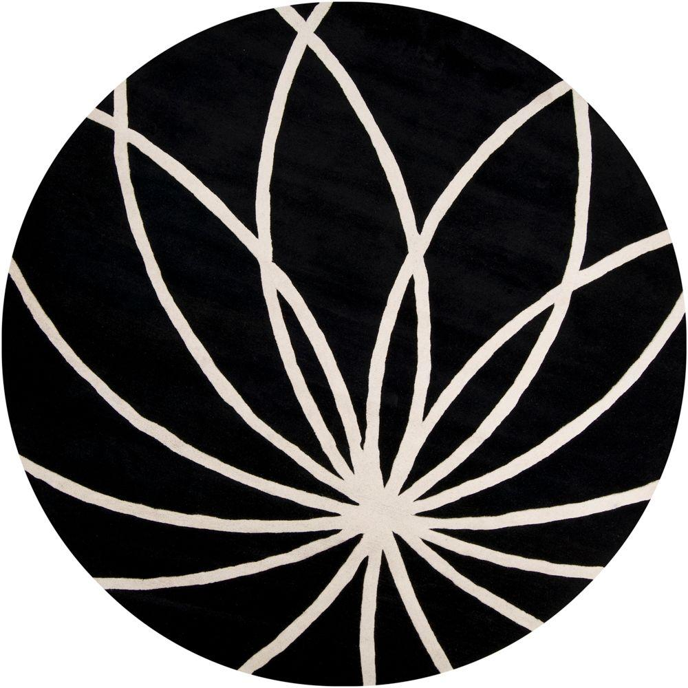 Artistic Weavers Michael Black 10 Ft Round Area Rug Mcl7072 99rd Round Area Rugs Area Rugs Black Rug
