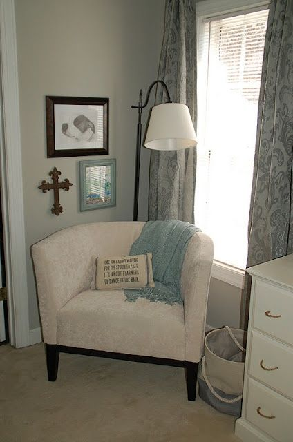 reading nook in master bedroom | Found on thriftyfindsandredesigns.blogspot.ca