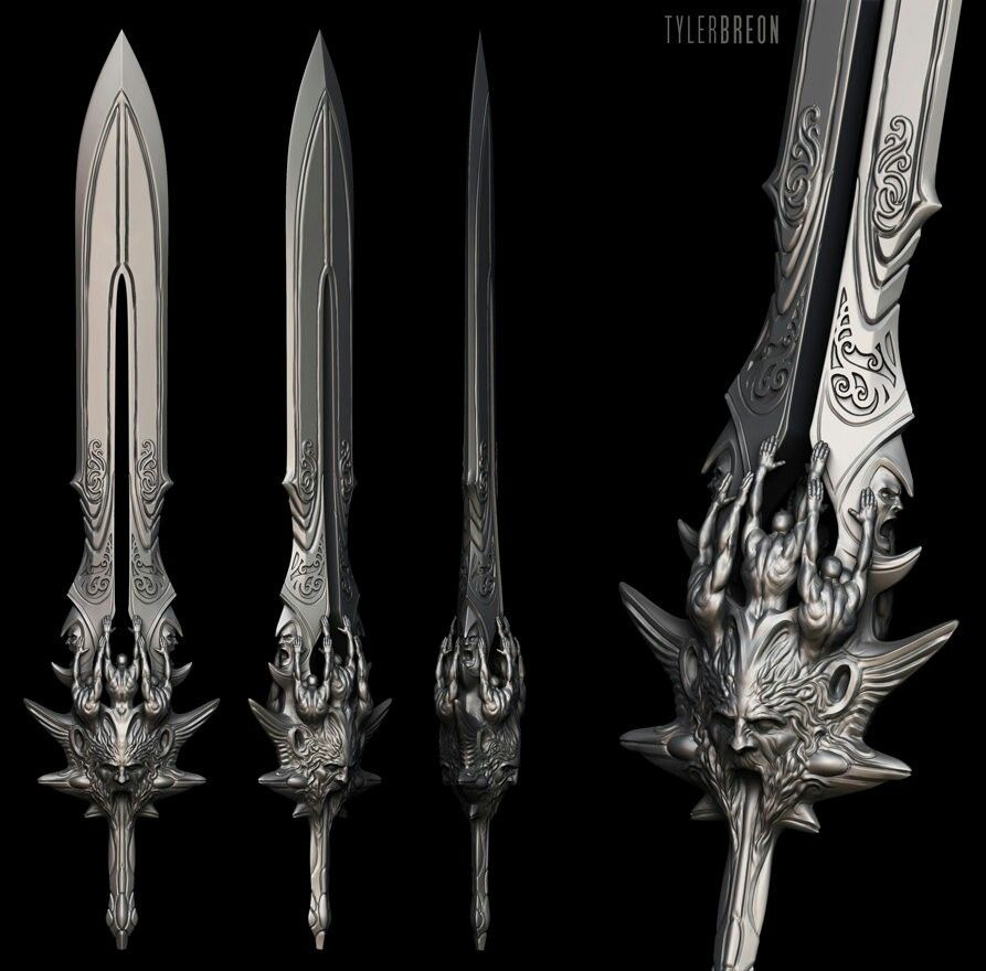Blade of olympus god of war weapon concept art