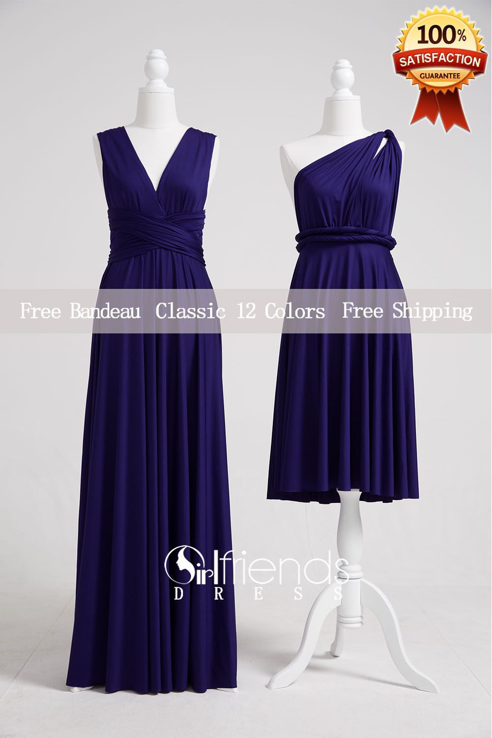Midnight blue bridesmaid dressconvertible dressesinfinity dresses