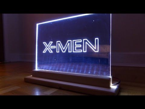 How To Make A Mirror Acrylic Led Edge Lit Sign X2f Emblem X2f Xmen Themed Light Youtube Lit Mirror Acrylic Mirror Sheet Edge Lighting