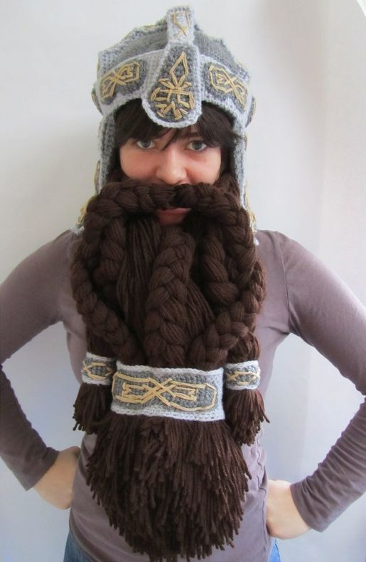 d67668c52bf Epic Crocheted Dwarven Helmet To Keep You Warm