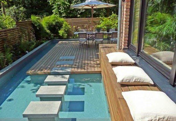 Modelo piscina pequeña | Princesas | Pinterest | Pequeñas piscinas ...