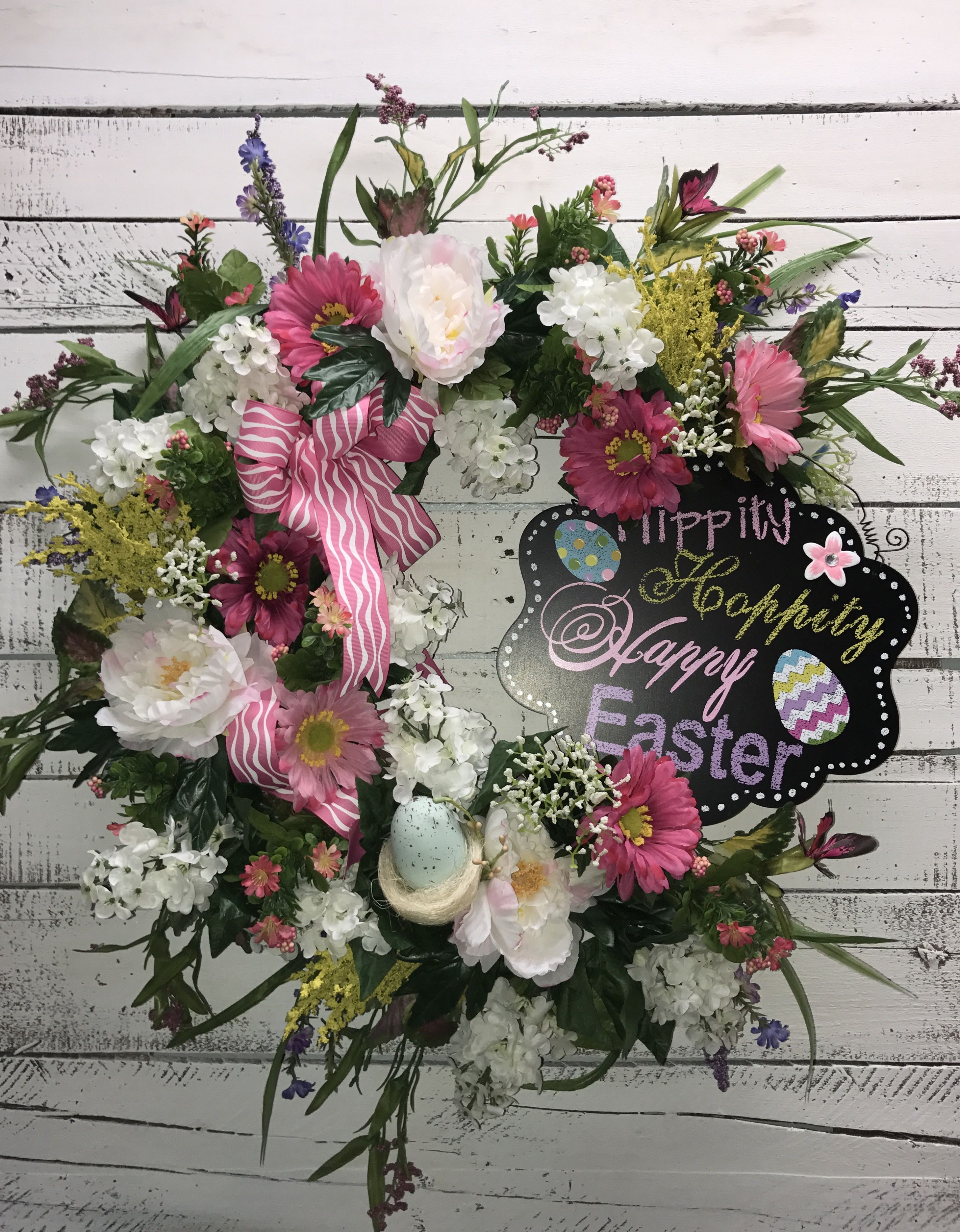 Beautiful Floral Easter Wreath, Easter Wreath, Easter Door Wreath ...