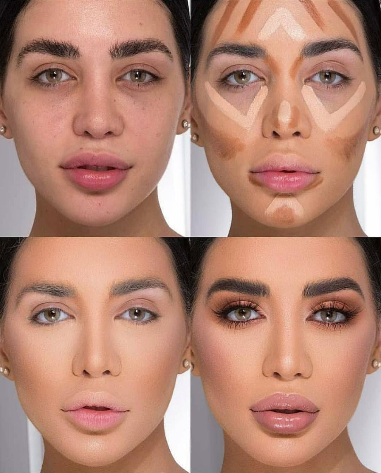 #countouring Makeup | Highlighter makeup, Contour makeup ...