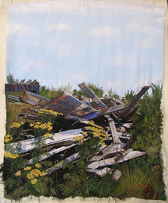 Textile art by Adinka Tellegen. 'Tansy'.