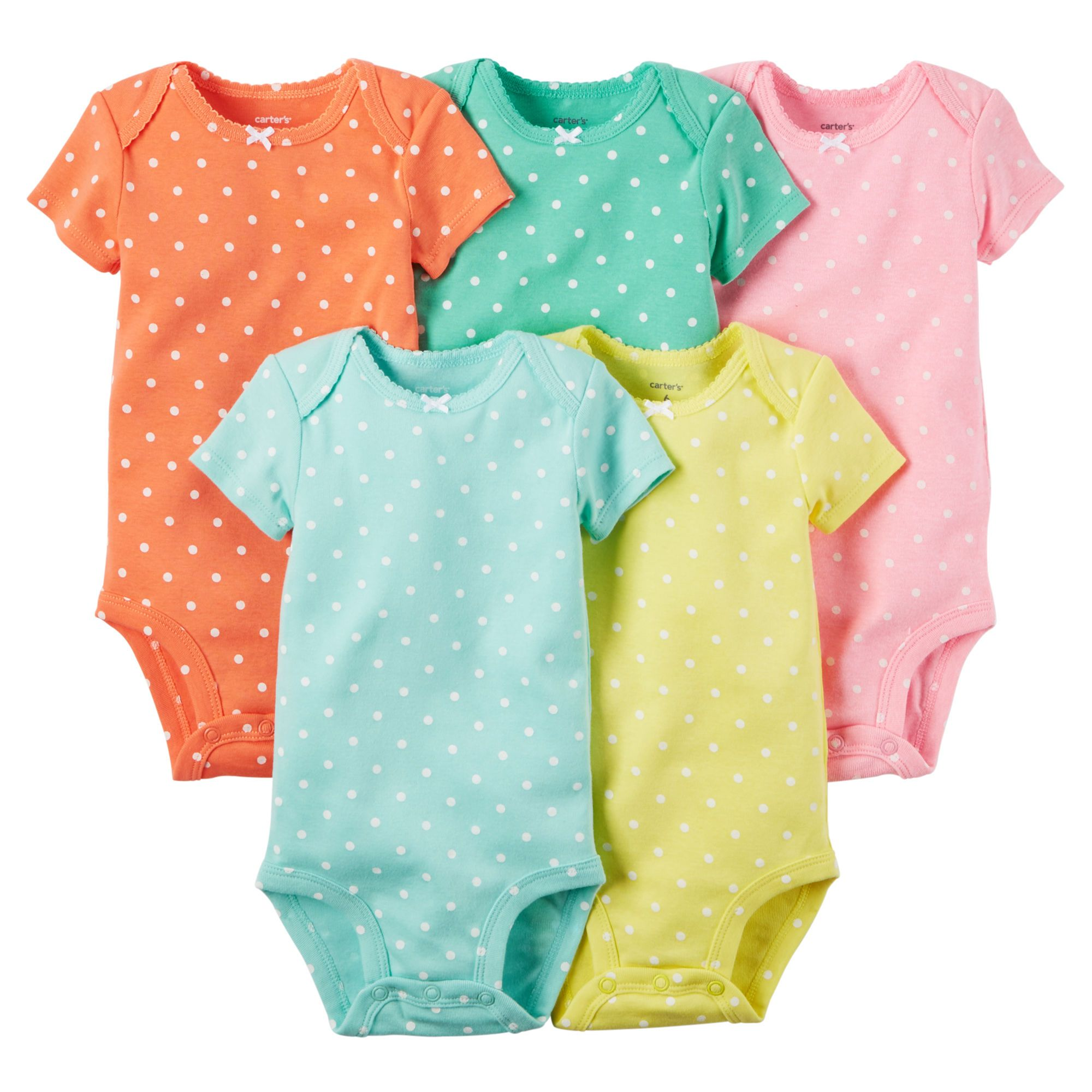 cf3913688 5-Pack Short-Sleeve Bodysuits | carter's | Cute newborn baby clothes ...