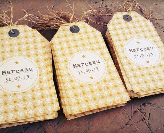 Préférence faire-part naissance original format étiquette bagage tag avec  RO55