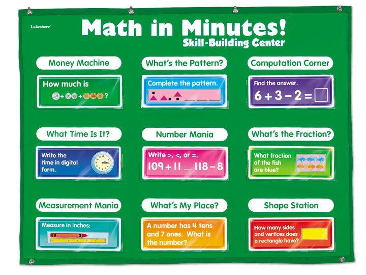 Math in Minutes! Skill-Building Center - Grade 2