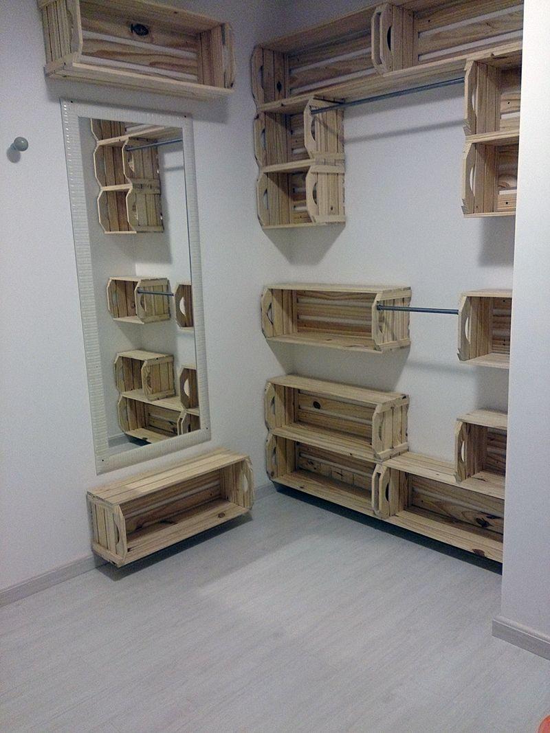 O quarto de pallet e caixotes do Perek | Palets, Armario y Muebles ...