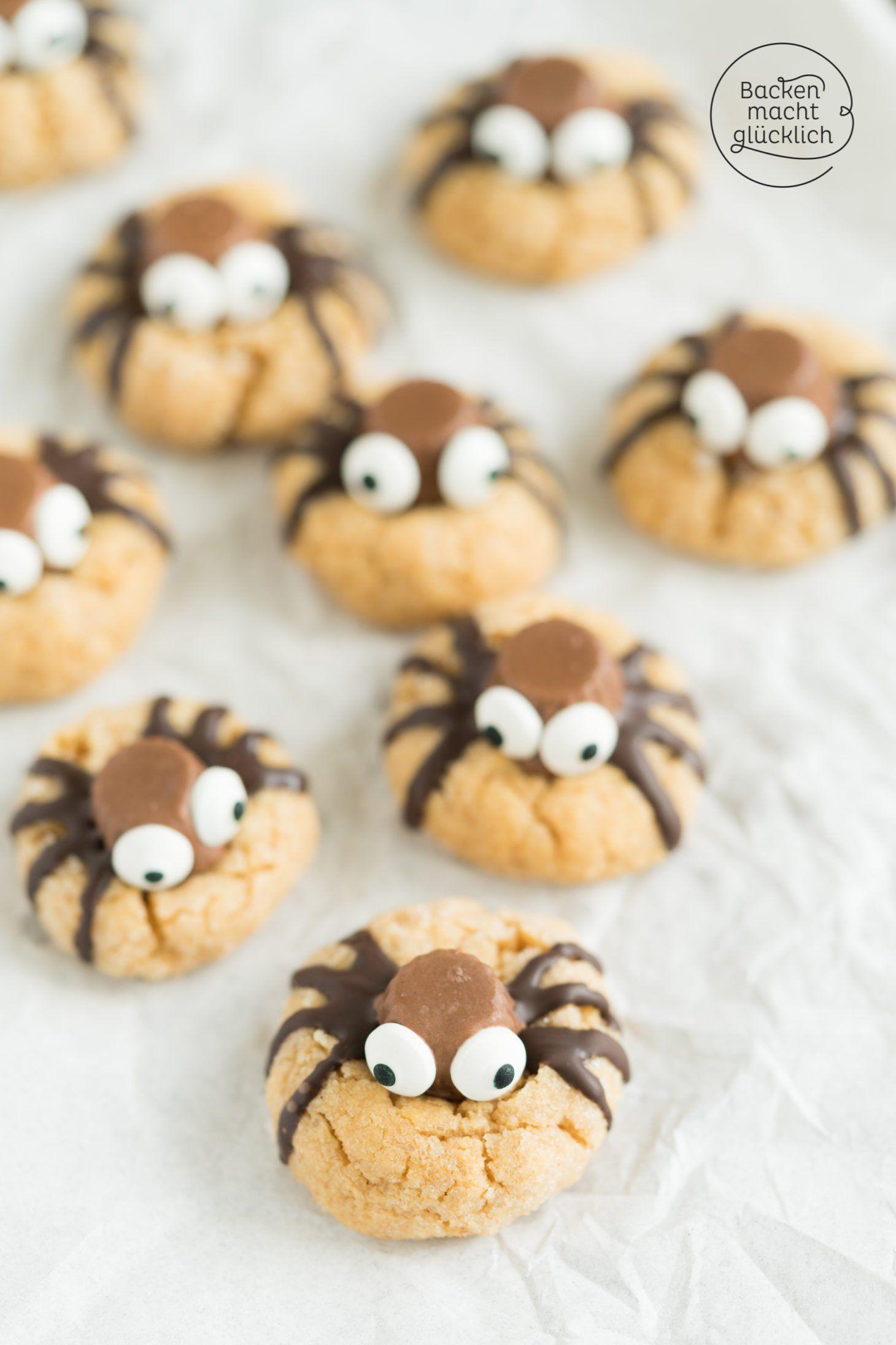 SpinnenCookies Rezept Halloween backen, Backen macht