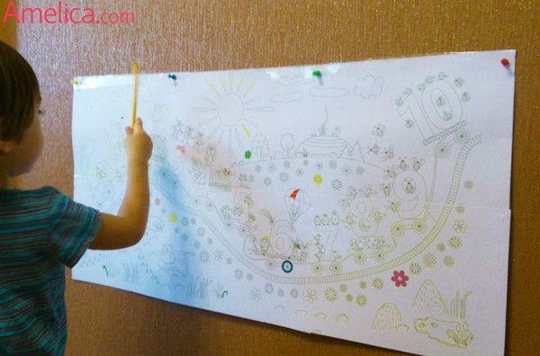 Большая раскраска - плакат на стену распечатать ...