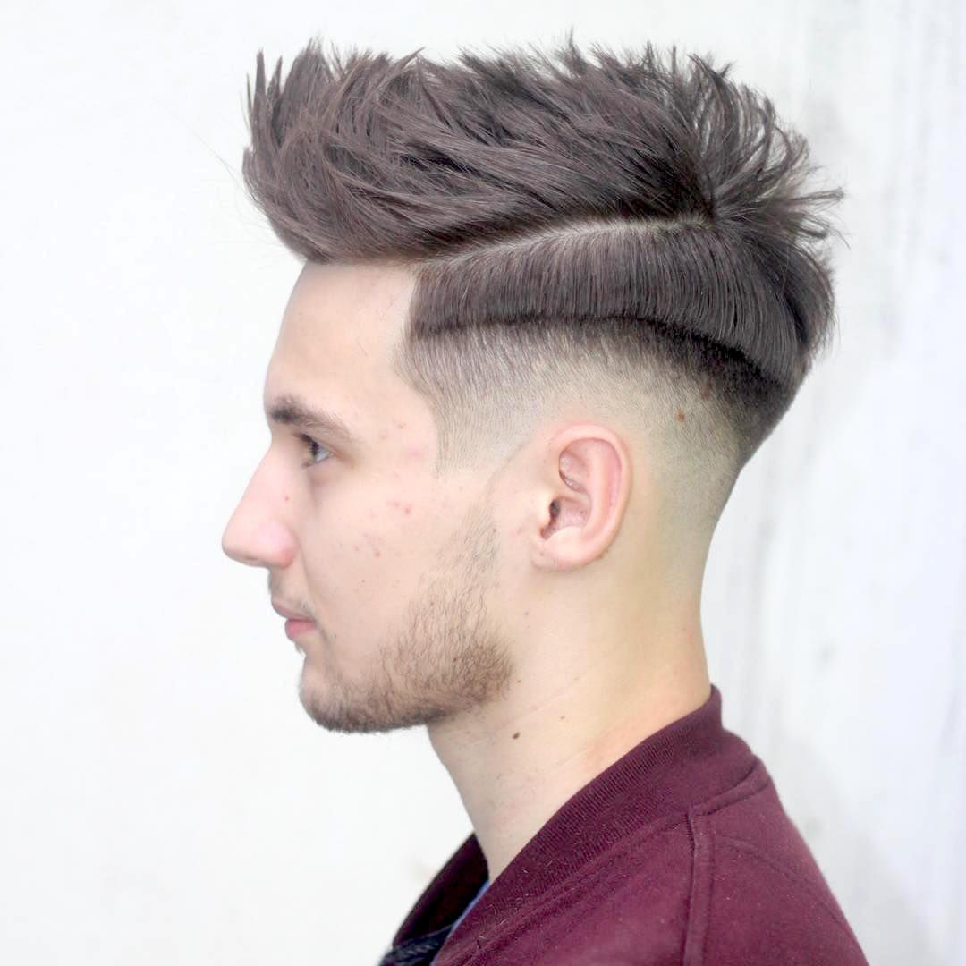Attractive Ryancullenhair_and Cool Shadow Fade And Step Haircut Mens