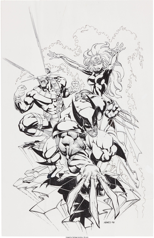Bart Sears Wizard the Comics Magazine X-Men Special #1