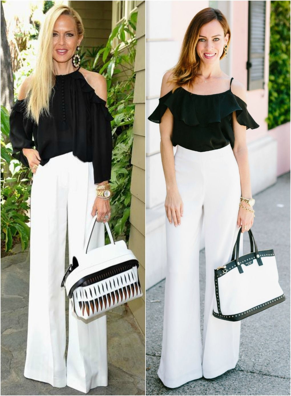 0abdffef Rachel Zoe's White Wide Leg Pants | Spring Me On In | Fashion, White ...