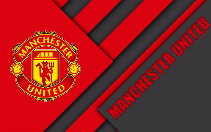 Download Wallpapers Manchester United Mu Logo Black Red Abstraction Premier League England Football Material Design Besthqwallpapers Com Manchester United Manchester United Wallpaper Manchester United Football