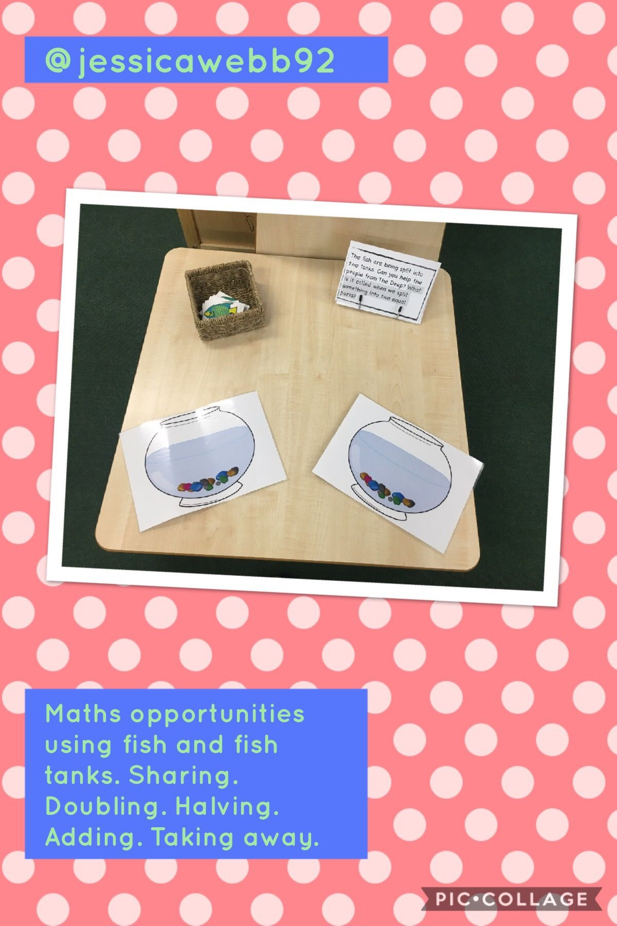 Open Ended Maths Opportunities Using Fish And Fish Tanks We Practised Doubling Halving
