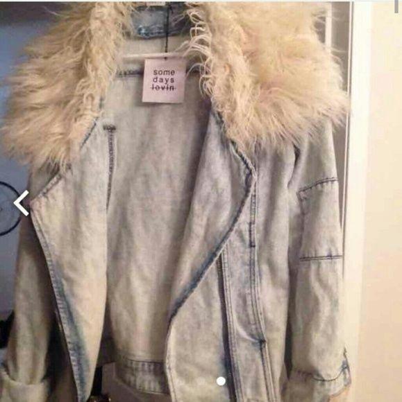 Some days lovin scando jacket nwt New with tags Somedays Lovin Jackets & Coats Jean Jackets