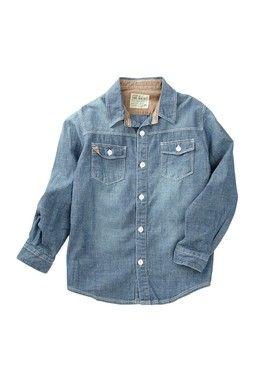 837a0262e Indigo Chambray Shirt (Toddler & Little Boys clothing)   Hayden ...