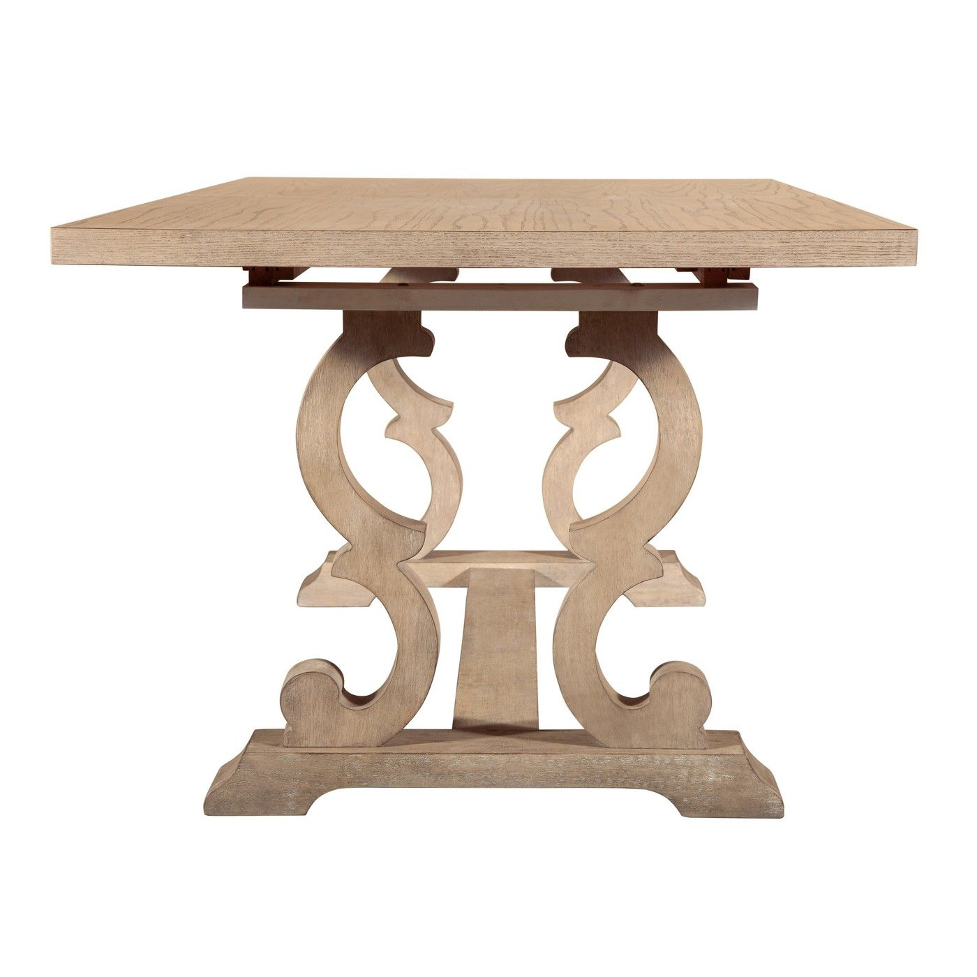 Elmhurst Trestle Dining Table With Curved Legs Weathered Oak Finch Dining Table Trestle Dining Tables Weathered Oak