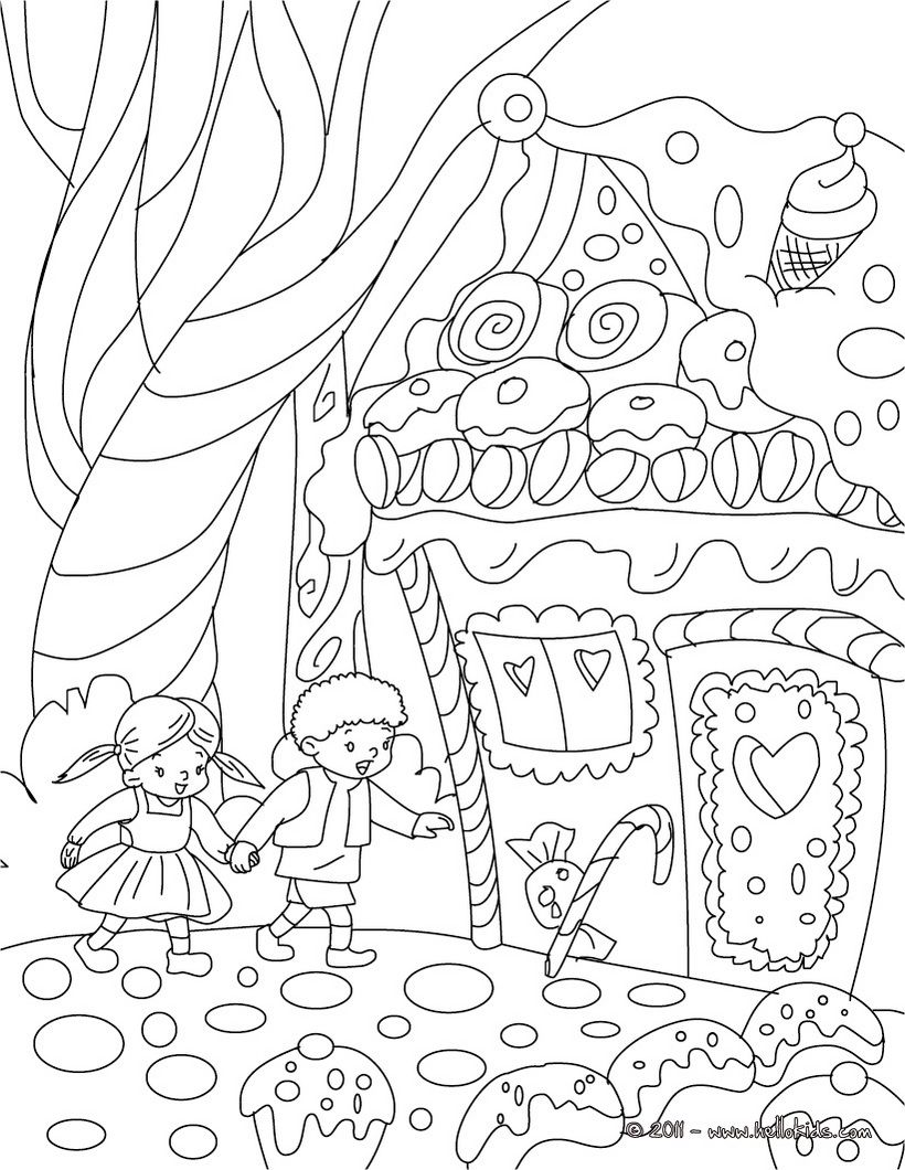"iColor ""Gingerbread Houses"" Hansel and Gretel 820x1060"
