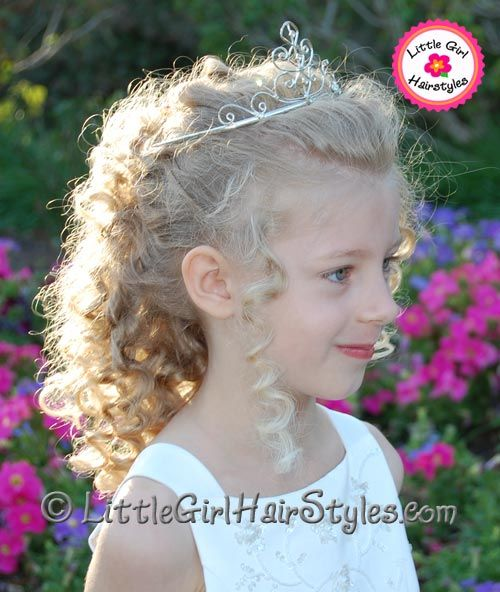 Great Ideas For Little Girl Hairstyles Tiaras Flowers And