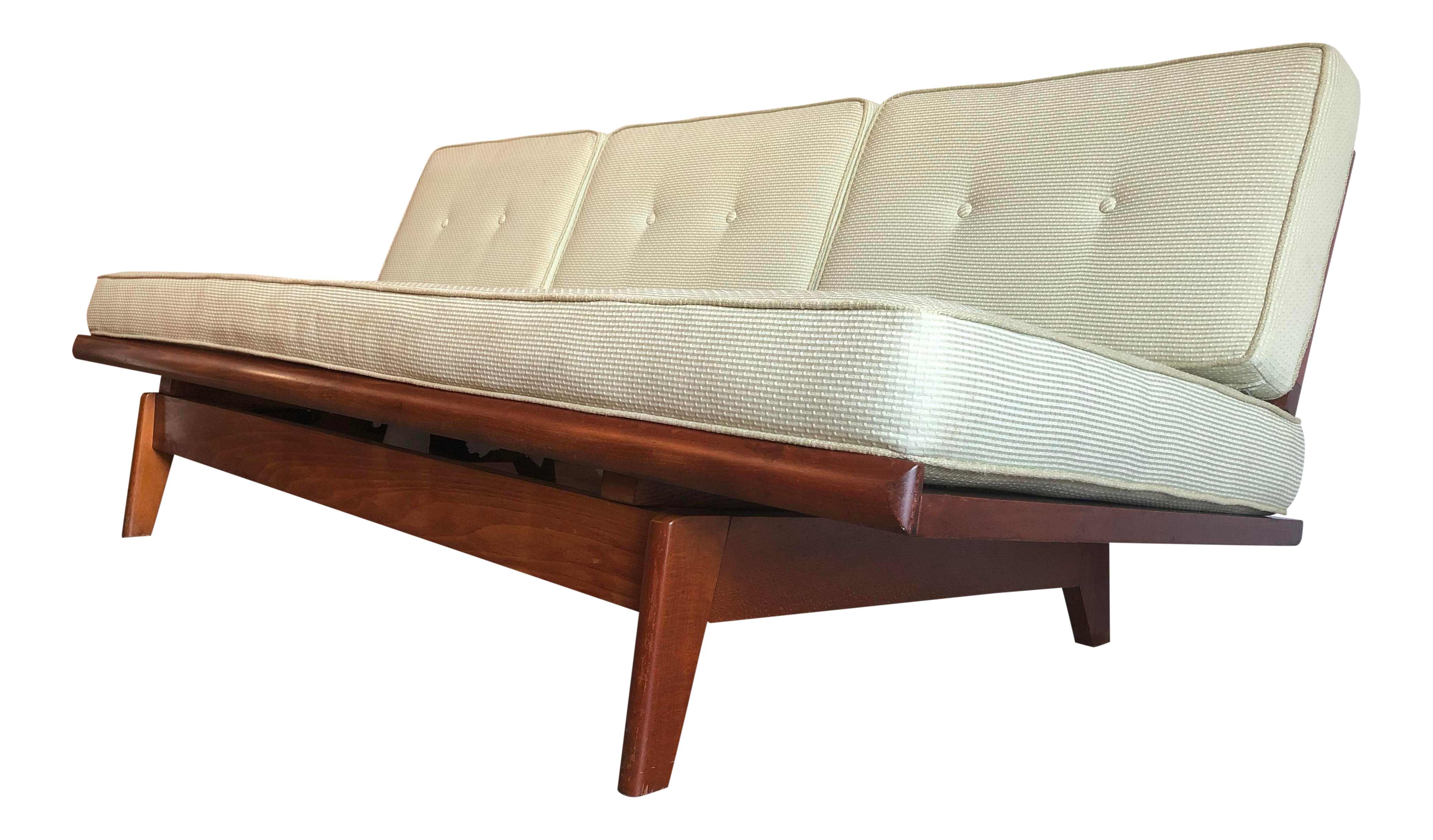 Outstanding Vintage Mid Century Modern Pull Out Day Bed Sofa Vintage Caraccident5 Cool Chair Designs And Ideas Caraccident5Info
