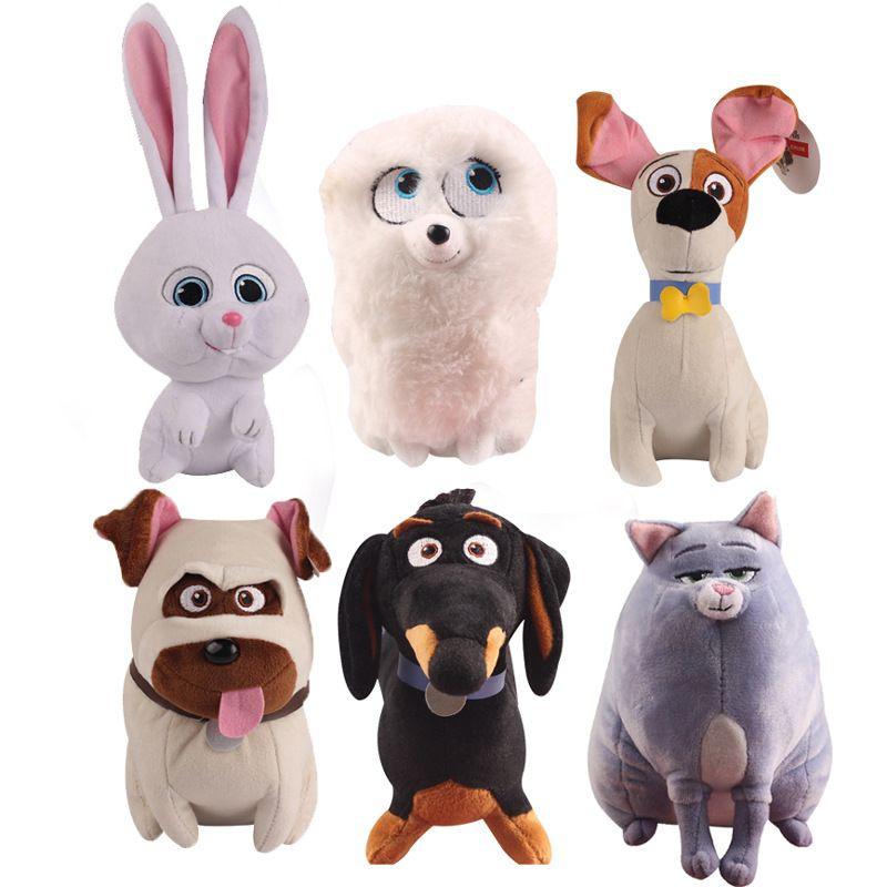 6pcs 15cm Movie The Secret Life Plush Toy Pets Of Max Snowball