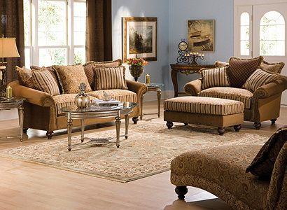 Cindy Crawford Home Valencia Traditional Microfiber Living Room