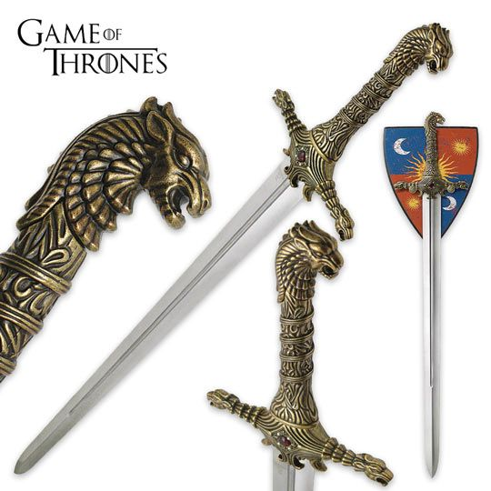 Game Of Thrones Brienne Of Tarth Oathkeeper Sword True Swords Game Of Thrones Tattoo Sword Cool Swords
