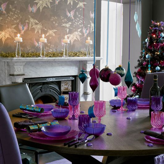 Rainbow Brights For Christmas Christmas Colour Schemes Purple Christmas Christmas Table Decorations