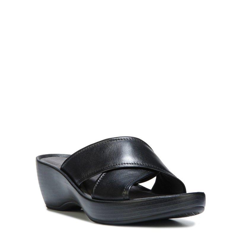 Eastland Women's Candice Memory Foam Sandals (Black Leather) - 11.0 M