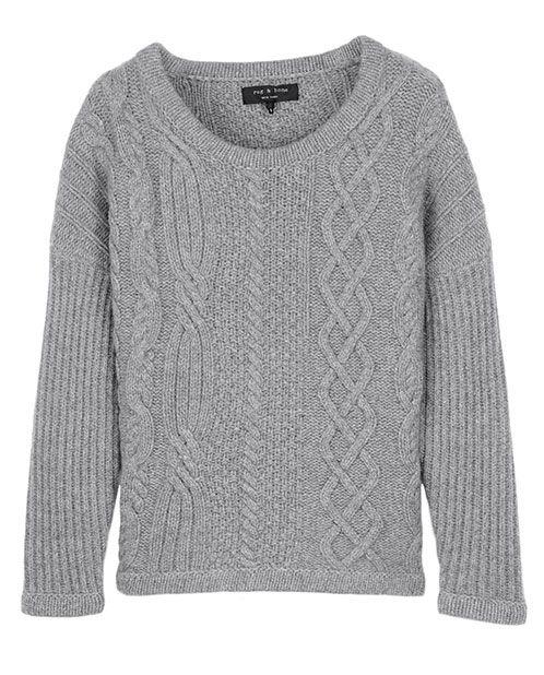 rag & bone Official Store, Cara Pullover, grey fl, Womens : Sale ...