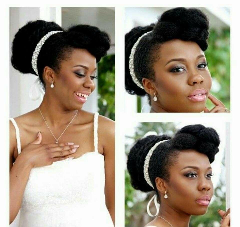 Coiffure Chignon Mariage Cheveux Crepus Coiffure Mariage Cheveux Crepus Afro Chignon Natural Hair Wedding Natural Hair Bride Natural Hair Styles