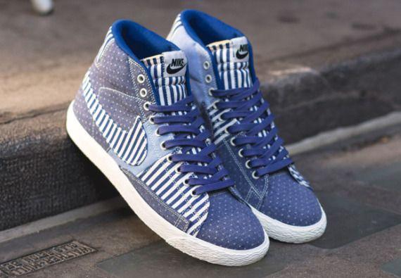 Nike Blazer Mid Patchwork En Denim