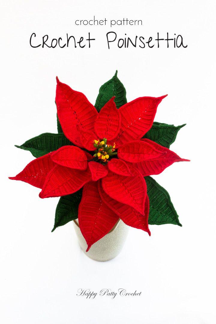 Pin By Esperanza Quezada On Amigurumi In 2020 Poinsettia Flower Crochet Puff Flower Christmas Flowers