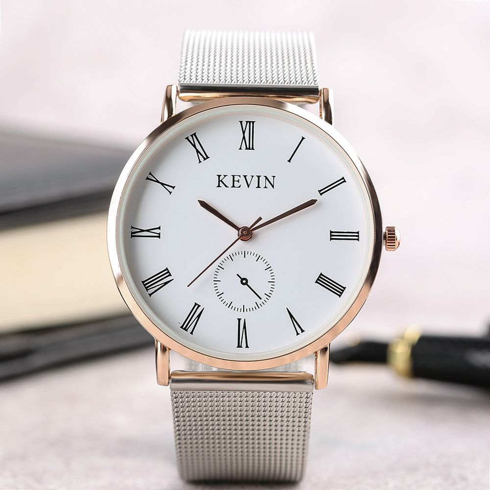 KEVIN Silver Simple Mesh Band Wrist Watches Women Quartz Ladies ...