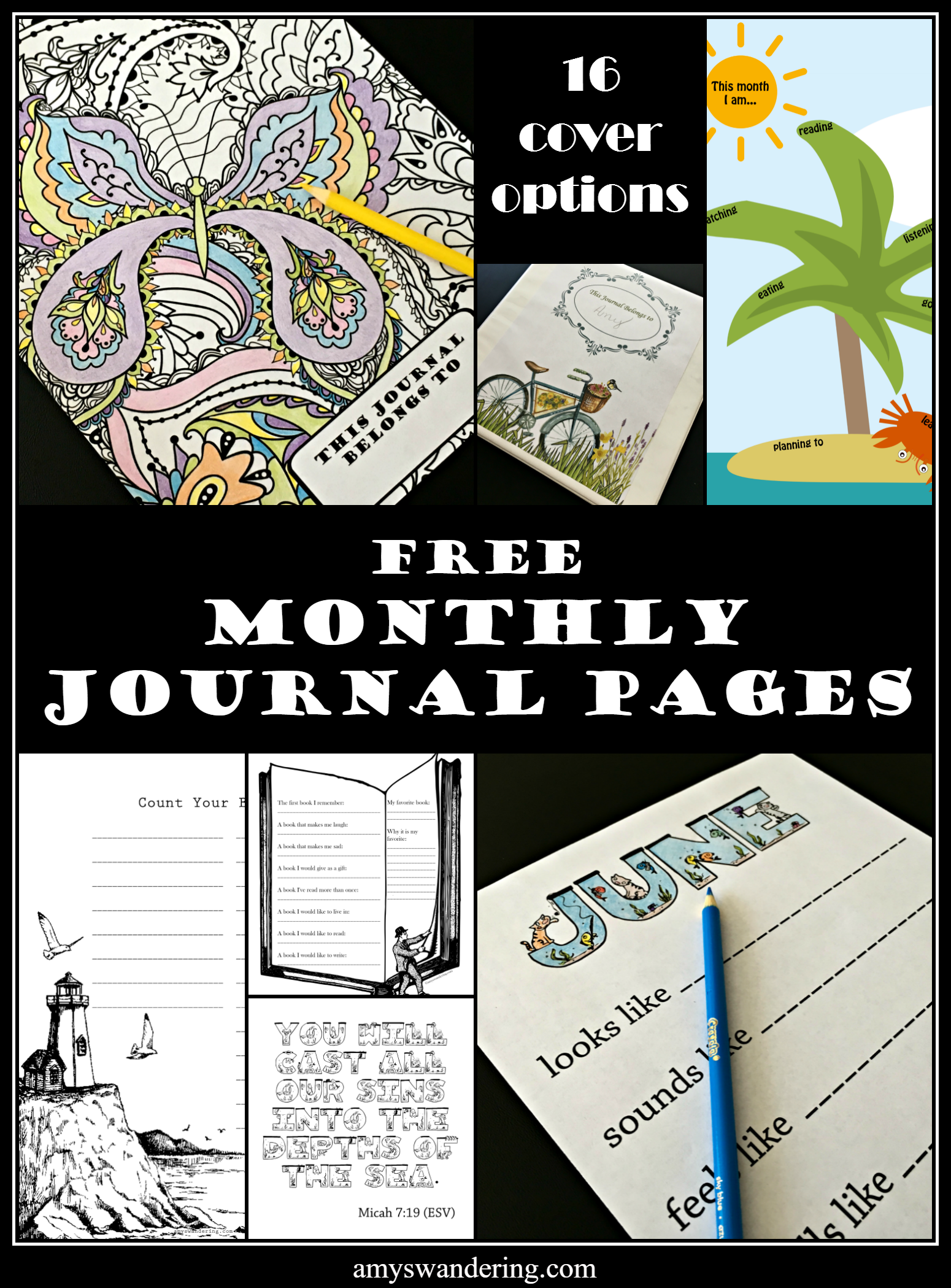 Free Monthly Journal Pages June Edition With Images