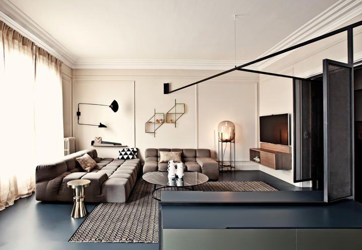 ristrutturare-casa-idee-appartamento-parigi-soggiorno | Interno casa ...