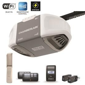 Chamberlain 1 25 Hp Chain Drive Garage Door Opener Works With Myq With Built In Wifi Battery Back Up C870 Garage Door Opener