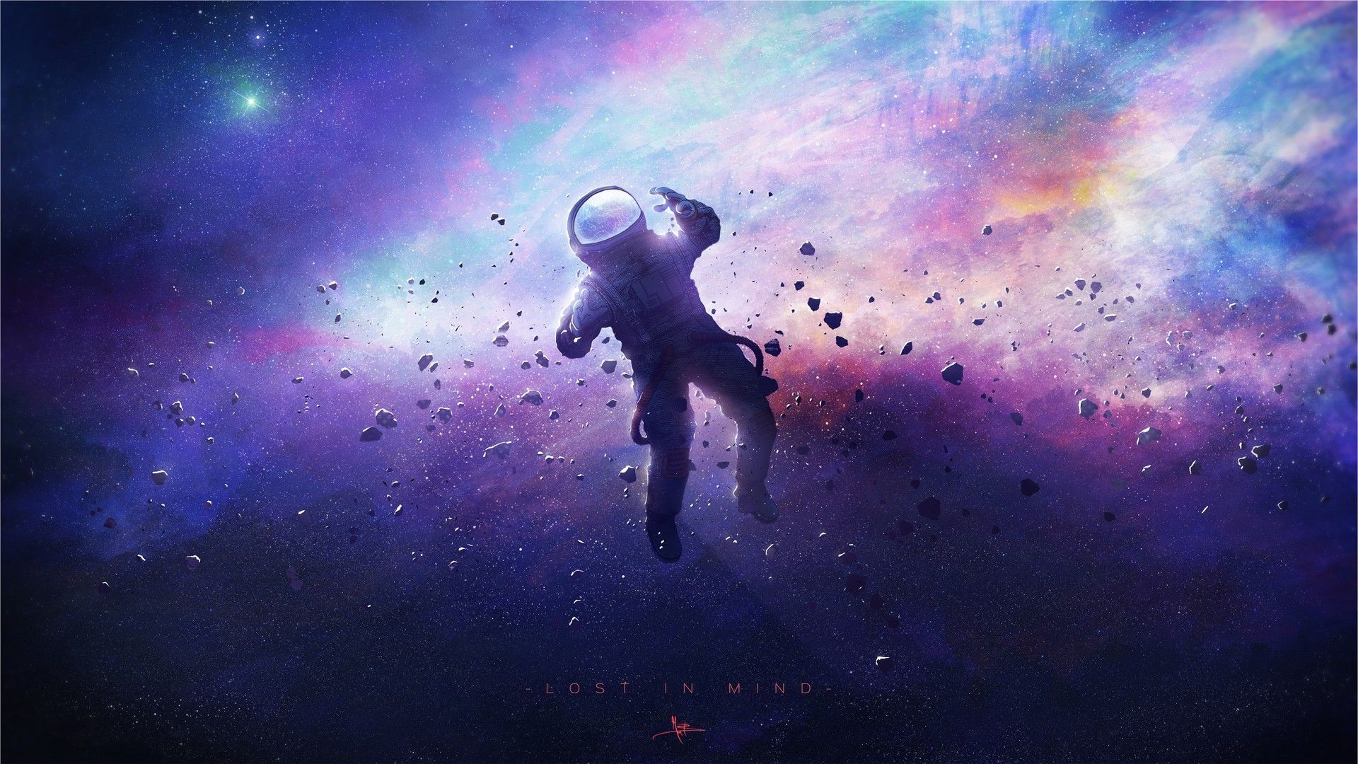 Lost In Space Astronaut Wallpaper Outer Space Wallpaper Wallpaper Space