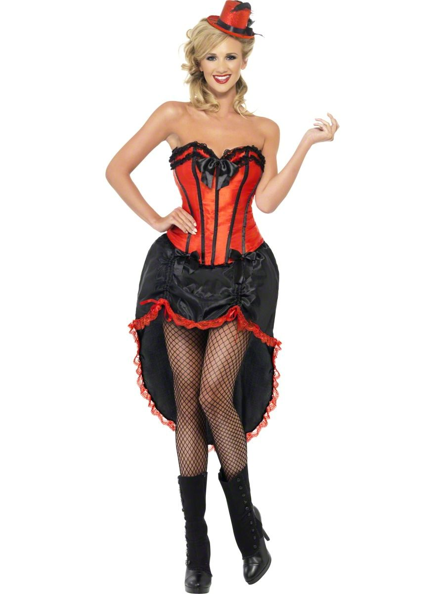 burlesque dancer tights ladies fancy dress moulin rouge can can womens costume ebay - Can Can Dancer Halloween Costume