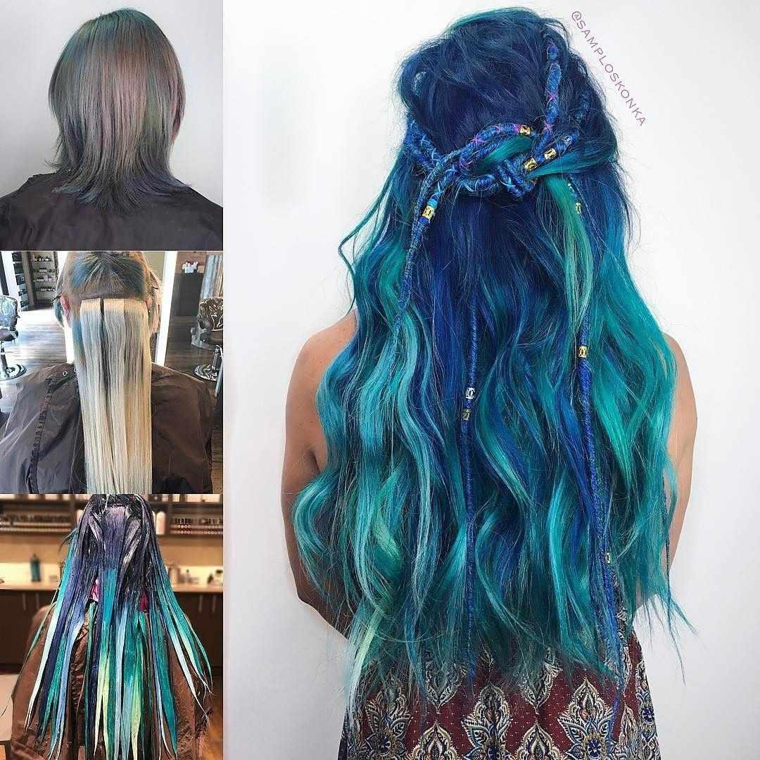 """1,060 Likes, 2 Comments - Hair Extensions Color Inspo (@vpfashion) on Instagram: """"{#VPInspiration} Amazing hair look with Tape In Hair Extensions 💎🌊🌊 Love this transformation and…"""""""