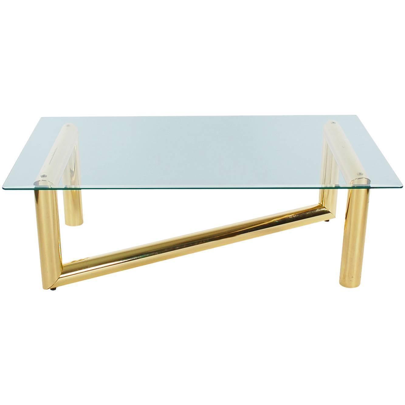 Mid Century Modern Brass Tubular And Glass Coffee Table Glass Coffee Table Glass Mid Century Modern [ 1333 x 1333 Pixel ]